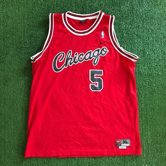 Nike Other - Vintage Jalen Rose Chicago Bulls NBA Nike Jersey